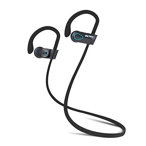 SHARKK Flex 2o Auriculares Bluetooth Inalámbricos para Ejercitarse, a Prueba de Sudor, Agua, y Líquidos Earbuds con Micrófono Muy Cómodos y Seguros