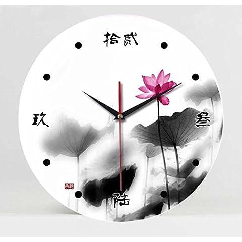 Colorido moderno elegante reloj imagen sin cerco/campana campanas chinas Fashion Lotus/Home cocina/salón Reloj de