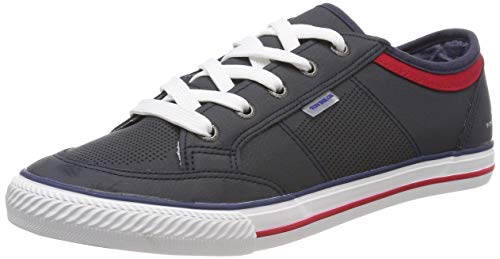 TOM TAILOR Jungen 6972902 Sneaker, Blau (Navy 00003), 35 EU (Tom Tom-schuhe Für Kinder)