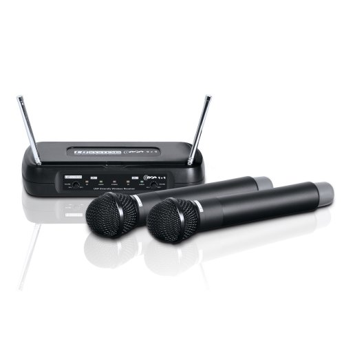 LD Systems ECO 2 Set per radiomicrofono con 2 microfoni mano dinamici Frequenza 8631/8645 MHz Taglia unica