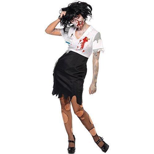 üro Sekretärin City Worker Dead Corpse Halloween Kostüm 8-18 (Büro Zombie Kostüm)
