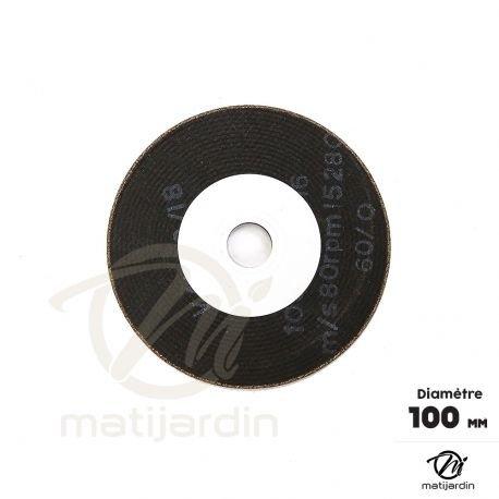 Meule d'affûtage chaîne tronçonneuse pour affûteuse Mini Jolly. Ø 100 mm. Epaisseur 3 mm - Pièce neuve