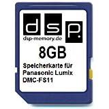 DSP Memory Z de 4051557407770tarjeta de memoria de 8GB para Panasonic Lumix DMC-FS11