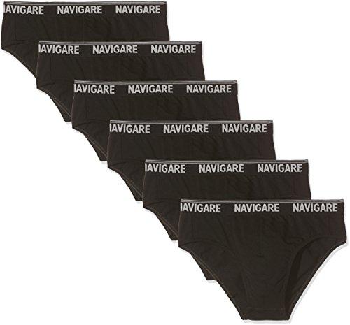 Navigare 574/e (pacco da 6) intimo, nero, medium (taglia produttore:4) uomo
