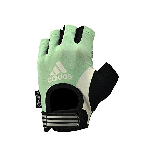 Adidas - Guanti da Fitness, Nero/ Verde, S