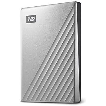 WD My Passport Ultra - Disco Duro portátil de 2 TB y USB Tipo C, Plata
