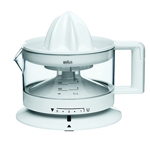Braun Tribute Collection CJ 3000 Zitruspresse (20 W, 0,35 l) weiß (Braun Zitruspresse Elektrische)