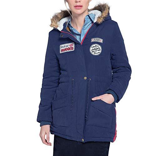 Tonsee  Manteau Femme, Nouvelle Mode Chaud Long Manteau Col De Fourrure À Capuche Veste Mince Hiver Parka Outwear Manteaux