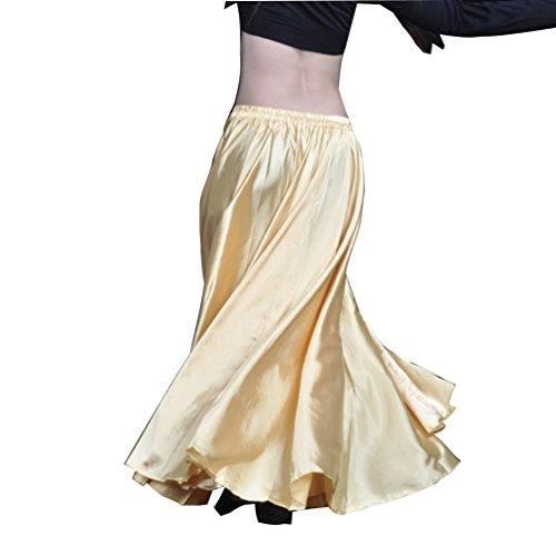 YouPue Damen Tanzkostüm Bauchtanz-Kostüm sexy High-End-Dual Rock Bauchtanz Leistungen große Rock Komfort (nicht enthalten Gürtel) Gürtel Kostüme Bauchtanz Taille Kette Light Gold (High End Halloween Kostüme)