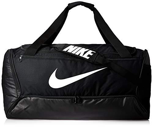 Nike Brasilia (Large) Trainingstasche, Black/Black/White, 71 x 36 x 36 cm