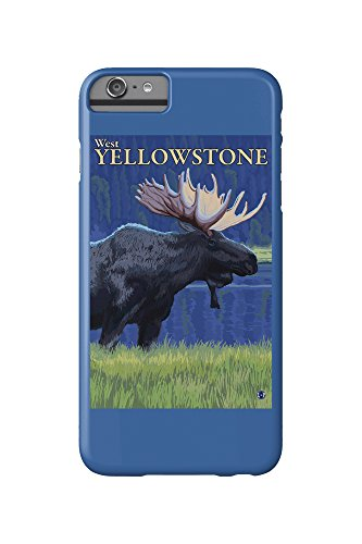 moose-at-night-west-yellowstone-montana-iphone-6-plus-cell-phone-case-slim-barely-there