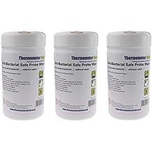 Antibacteriano seguro toallitas de sonda – 3 x botes de 200 cada | desinfectante toallitas limpiadoras