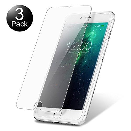 vontox Hartglas iPhone 6Plus/6S Plus [3Stück], Displayschutzfolie aus Hartglas Kratzfest, ohne Luftblasen, Ultra strapazierfähig Härtegrad 9H Glass Displayschutz für iPhone 6Plus/6S Plus