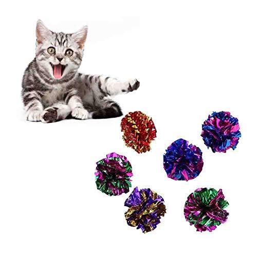 Mackur Crinkle Balls Katzenspielzeug Knisterb