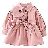Baby Mädchen Junge Kleidung feste Gürtel, Knöpfe, Trench Wind Coat Tops Outfits