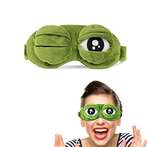 Clothes Carton 3d Eye Mask Women Girls Boys Cute Plush Frog Eye Mask 20cm Funny Green Eyes Cover Mask For Sleeping Rest Goods Of Every Description Are Available Women's Accessories