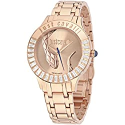 Just Cavalli Women's Quartz Watch with Black Dial Analogue Display Quartz Stainless Steel R7253597503