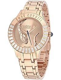 Just Cavalli Damen-Armbanduhr Analog Quarz Edelstahl R7253597503