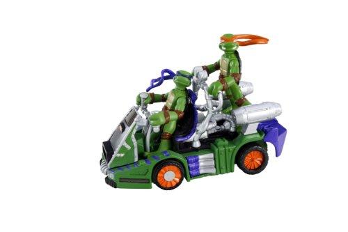 Vivid Imaginations Teenage Mutant Ninja Turtles The Movie Mini Mutants Fahrzeug und Figur - Mini-Moto-Slider mit Barricade - Donatello - Mini Moto-slider