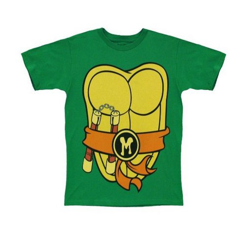 TMNT Teenage Mutant Ninja Turtles Michelangelo Costume kids Toddler T-Shirt 4T by Mighty Fine