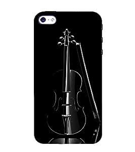 99Sublimation Black Guitar 3D Hard Polycarbonate Back Case Cover for Apple iPhone 5S