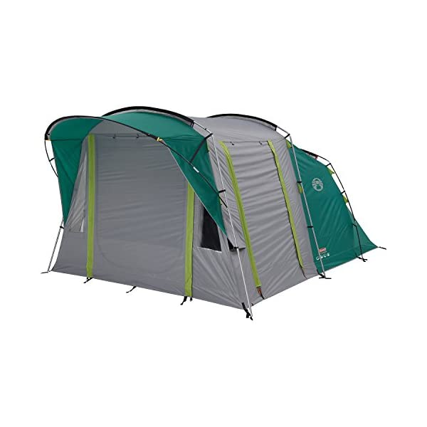 Coleman Tent Oak Canyon 4, 4 Man Tent with BlackOut Bedroom Technology, Festival Essential, 2 Bedroom Family Tent, 100% Waterproof Camping Tent 2