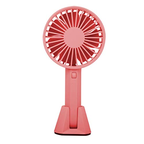 0Miaxudh , USB Lüfter, Temperaturkontrolle, Sommer Tragbarer Mini-Handladekühler mit Tischfuß für Büro, Innen und Außen - Pink (Drucker Tischfuß)