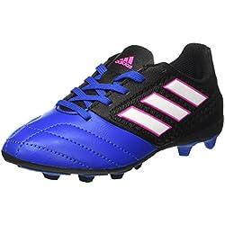 adidas Ace 17.4 FxG J, Botas de fútbol Unisex Niños, Negro (Core Black/Footwear White/Blue), 33 EU
