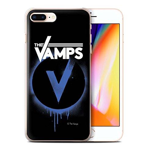 Officiel The Vamps Coque / Etui pour Apple iPhone 8 Plus / Pack 6pcs Design / The Vamps Graffiti Logo Groupe Collection Bleu V