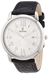Reloj Festina F6813/1 de cuarzo para hombre con correa de piel, color negro de Festina