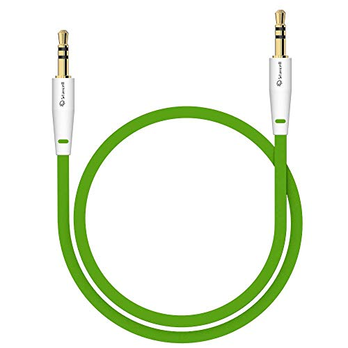 Act Sony Xperia Z5 Compact Anti-Tangle 3,5mm Stereo-Kabel 1 Meter Auxiliary lead Zusatzkabel Klinke-auf-Klinke Buchse zu Buchse Flachkabel Audio-Verlängerungskabel Input von Gadget Grün -