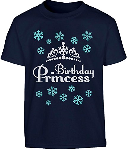 g Shirt Bday Princess Kleinkind Kinder T-Shirt - Gr. 86-128 6T Marineblau ()