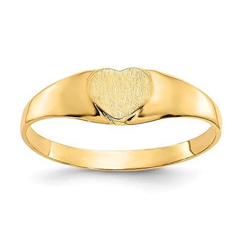 Gelbgold 14K Baby Herz Signet Ring