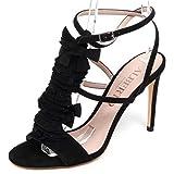 ALBERTO GOZZI F1810 Sandalo Donna Black Scarpe Suede Sandal Shoe Woman [39]