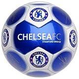 Chelsea Offiziell Neu Signatur Edition Crest Fußball - Metallisch, Größe 5