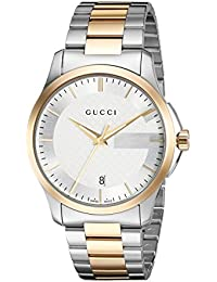 b34f20461b4 Gucci orologio analogico swiss-quartz da uomo con cinturino two-tone- stainless-steel…