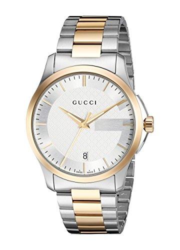 Gucci Homme Analogique Quartz Suisse Montre avec Bracelet en Acier Inoxydable YA126474