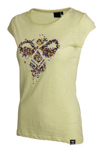 Hummel, T-shirt Donna Amanda a maniche corte, Giallo (wax yellow), XS
