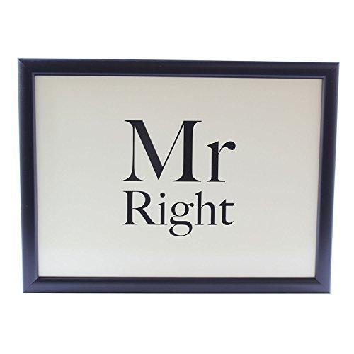 Mr Right Gepolstertes Knietablett Sitzsack, Gepolstertes Knietablett Geschenk für Ihn