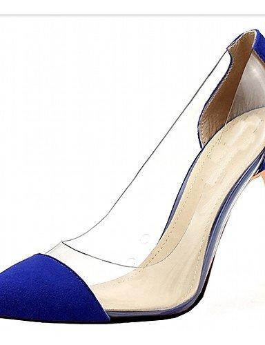 WSS 2016 Chaussures Femme-Mariage / Bureau & Travail / Habillé / Décontracté / Soirée & Evénement-Noir / Bleu / Vert / Violet / Rouge / Argent / blue-us6.5-7 / eu37 / uk4.5-5 / cn37