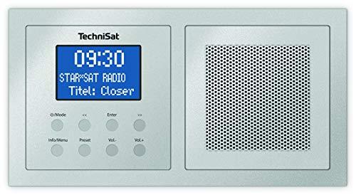 TechniSat Digitradio UP 1 DAB Unterputzradio (Radio zur Anbringung in jeder Doppel-Unterputzdose, DAB+, UKW, Bluetooth, Wecker, 2 Watt RMS) silber