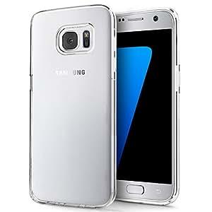 """Samsung Galaxy S7 Custodia, Ubegood Samsung Galaxy S7 Case Custodia Bumper Cover [Protezione goccia] Samsung Galaxy S7 custodia protettiva (5,1"""") - Trasparente"""