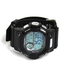 PASNEW Didital antichoc antimagnétique water-resistant-30m el-backlit Montre sport unisexe # 319 noir Noir 45 x 15 mm
