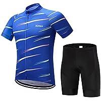 XDXDWEWERT Pantalones de Ciclismo Pantalones de Montar en BIC Camiseta de Ciclismo de Manga Corta para Hombre con Culotte Corto de Traje Transpirable Jersey XL (Color : Short Sleeve, tamaño : M)