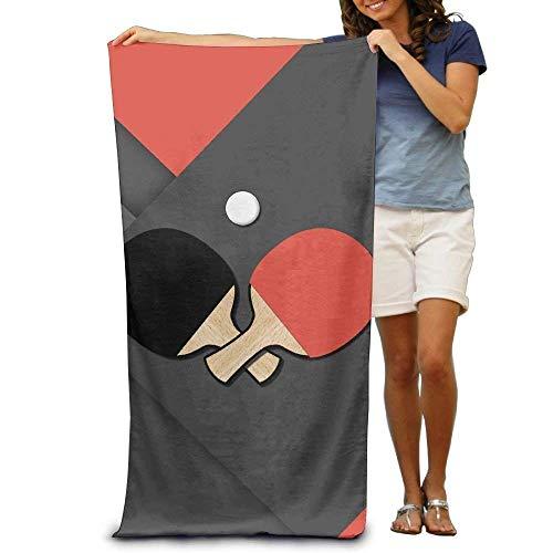 "LINGVYTE Super Absorbent Beach Towel Table Tennis Logo Polyester Velvet Beach Towels 31\"" X 51\"" Inch"