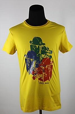 Armani Jeans Designer T-Shirt AJ Big Cinema Design Print