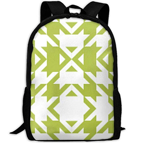 fsfsdafsaBags Houndstooth Tiny Lime Green Wallpaper 3D Print Sac à DOS de Voyage College School Laptop Bag Daypack Travel Shoulder Bag for Unisex -
