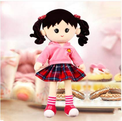 Cute Kostüm Girl - Sleeping Cute Doll Girl Girl Princess Doll Puppet Doll Birthday Gift Plush Toy Pink 35Cm