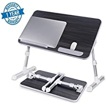 Callas Adjustable Portable Laptop Table, Bed Table, Notebook Stand, Laptop Standing Desk, CA6-Black