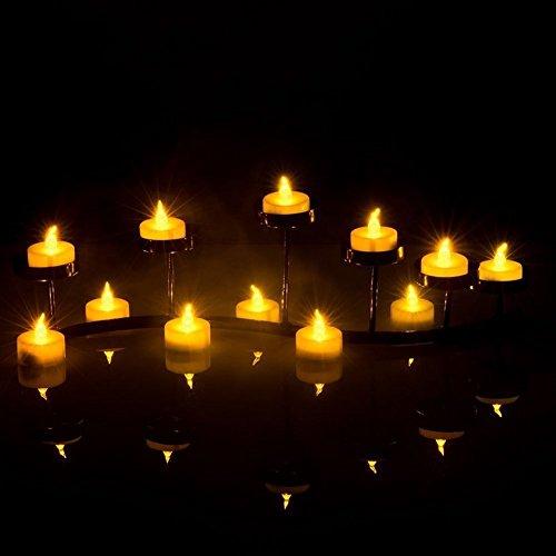 Greatever Luces Led Amarillo Cálido con Forma de Vela (Sin Aroma). Perfectas para San Valentín, Cumpleaños, Fiestas, Navidad, Decoración